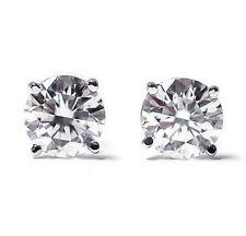 1/4 Ct Round Cut Diamond Stud Earrings 14K White Gold