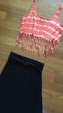 NEW Ladies Sz 10-12 Skirt & Top OUTFIT ~ Hippy Cute