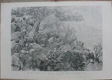 1900 Two Large Antique Prints - Ladysmith Siege - Manchester Regiment - Boer war
