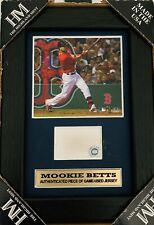 Mookie Betts Boston Red Sox Game Used Jersey Framed Authenticated MVP Fenway GU