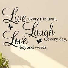 LIVE LAUGH LOVE Quote Vinyl Decal Removable Art Wall Stickers Home Room Decor GA