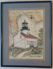1997 Old Point Loma Light Signed Print by Donna Elias
