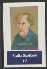 GB Locals - Staffa 5030 - 1982  ARTISTS - AUGUSTUS JOHN  imperf deluxe sheet u/m