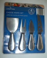 CROFTON CHEESE KNIFE 4 PIECE SET STAINLESS STEEL NONSTICK COATING-NEW