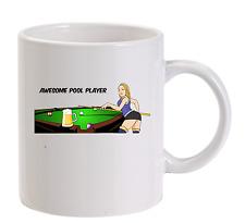 Badass Pool player Cartoon Funny Mug  personalised Snooker Billiards