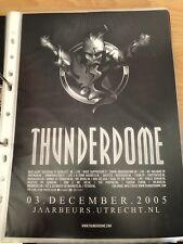 Original Thunderdome 03 Dec 2005 Jaarbeurs Utrecht Flyer Hardcore Gabber ID&T