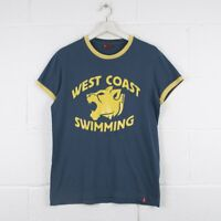 Vintage LEVI'S Navy Blue West Cosat Swimming T-Shirt Womens Size Medium