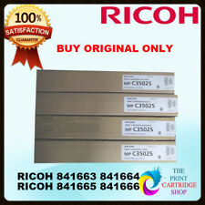 Ricoh Original Full Toner Set CMYK EDP CODE 841663 841666 841665 841666 MPC3502S