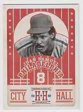 JUAN SAMUEL 2013 Panini Hometown Heroes Baseball City Hall Card #CH5 Phillies