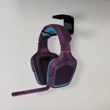 NEW 2pcs Under Desk Headset Mount Acrylic Dual Headphone Hanger Stand Holder UK