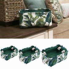 US Cotton Linen Desk Storage Box Household Organizer Bin Basket Container Living