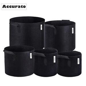 2Pcs Fabric Plant Pots Breathable Grow Bags w/ Handles 1 2 3 5 7 10 Gallon