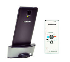 DUAL USB docking station charger with battery  for Samsung Galaxy note 4 N910