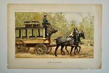 DE PENNE OLIVIER(1831-1897)-CHROMOLITHOGRAPHIE ORIG.XIXEME-CHEVAUX-PERCHERON
