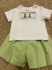 Guc boys silly goose smocked short set 24 months boutique