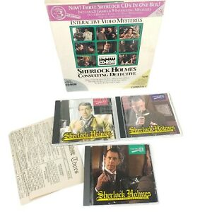 Sherlock Holmes Consulting Detective  3 Volumes in Box - PC Adventure Game DOS