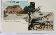 30401 Litho AK Gruß aus Aitzendorf bei Geringswalde Gasthof mit Ballsaal um 1900