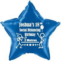 Lockdown balloon  social distancing birthday PERSONALISED  BALLOON fun novelty