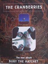 "CRANBERRIES ""BURY THE HATCHET"" AUSTRALIAN PROMO POSTER - Group Beneath Album Art"