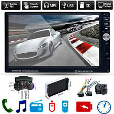 "7"" HD Double 2 DIN Touch Car MP5 Player Bluetooth Stereo FM Radio USB/TF AUX In"
