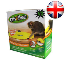 V3 CAT'S MEOW UNDERCOVER YELLOW SKIRT MOTORISED MOVING MOUSE WAND TOY / BOXED TT