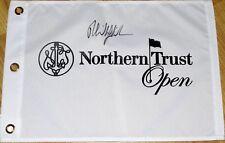 Phil Mickelson Signed NORTHERN TRUST OPEN Flag - Riviera LA - Genesis Open