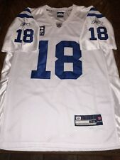 Indianapolis Colts Peyton Manning Reebok Jersey Size 48 Captain Patch