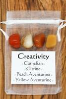 Creativity Gemstones Crystal Gift Set Carnelian Citrine Tumbled Stones