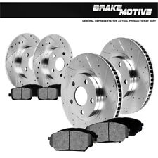 Front & Rear Drilled Slotted Brake Rotors & Metallic Pads Pt Cruiser Neon Srt-4