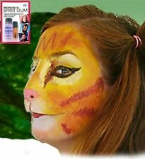 Halloween Costume Latex Prosthetic Face Nose Cat Kitty Mask with Spirit Gum Kit