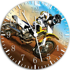 "Motor Cross wall Clock 10"" will be nice Gift and Room wall Decor W49"