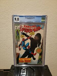 🔥 AMAZING SPIDER-MAN #86 CGC 9.0 BLACK WIDOW ORIGIN & NEW COSTUME 1970 MARVEL