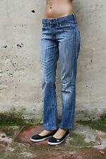 MARLBORO CLASSICS LADIES BLUE DENIM JEANS REGULAR FIT NICE FADED WASH W27 UK10