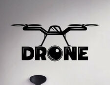 Drone Wall Decal Unmanned Aircraft Vinyl Sticker Removable Home Art Decor 83nse