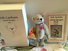 "Deb Canham Miniature Mohair Teddy Bear 3 1/2"" Mango Friends Mint in Box COA"