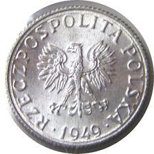 New listing elf Poland 1 Grosz 1949 Eagle