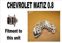 Chevrolet Matiz 0.8 Hatchback Alternador Rectificador Placa 2005 2006 2007