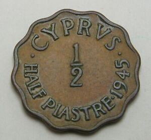CYPRUS 1/2 Piastre 1945 - Bronze - VF - 1541