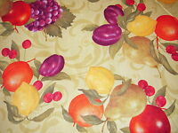 Picked Fresh Fruit Cotton Fabric By The Yard Apple Pear Cherry Lemon Grapes