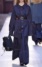 Sonia Rykiel Paris parachute shirt dress Navy Blue oversized 34