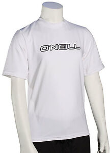 O'Neill Kid's Basic Skins SS Surf Shirt - White - New
