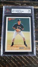 1993 Bowman Derek Jeter Rookie Card #511 KSA 9 Mint Baseball Card
