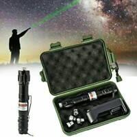 100Miles Green 532NM Laser Pointer Pen Rechargable Visible Beam Torche Focus UK