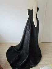 New $9600 Dolce&Gabbana Silk Organza Sequin Back Bustier Gown Dress
