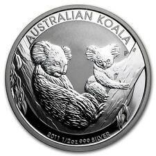 Australia $ 0.5 Koala 2011 Half 1/2 oz .999 Silver Coin