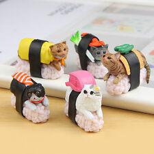 5pcs Sushi Neko Cat Club Capsule Meow Mini Figure Kitty Collection Set Kitan