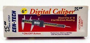 "Cen-Tech New 6"" Digital Caliper 47257 Inch or Metric 0 to 150.0mm Reading"