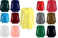 New Womens Ladies Girls Casual Long Sleeve Boyfriend Cardigan Top Open Pocket