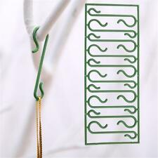 100X Christmas Tree Ornament Baubles Green Hooks 4cm Hanging Hangers Decoration