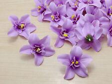 Wholesale 50pcs purple 8cm Cartland Artificial Thai Orchid Silk Flowers Heads